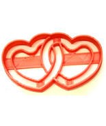 Linked Hearts Valentine Engagement Wedding Anniversary Cookie Cutter USA... - $2.99
