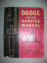 Dodge Truck Service Manual S Series 1962 - $64.79