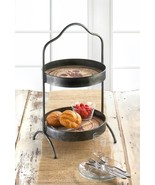 VINEYARD Standing Tray 2-Tier Round Kitchen Tabletop - $53.99