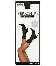 Berkshire BLACK Cozy Hose Plush Lined Scalloped Anklet, US Plus(9-12) image 5