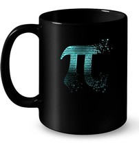 Pi Shattered Teal Designer Pi Day Gift Coffee Mug - $13.99+