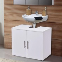 2 Door Under Sink Bathroom Storage Cabinet Modern Organiser Bath Furnitu... - $74.99
