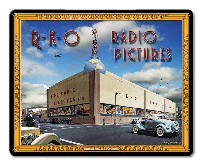 RKO Radio Pictures Studio by Larry Grossman Metal Sign