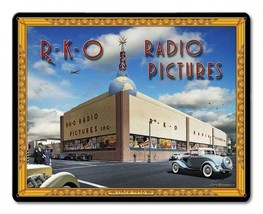 RKO Radio Pictures Studio by Larry Grossman Metal Sign - $29.95