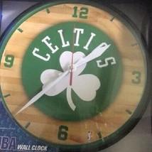 "Boston Celtics Logo on 12"" Round Wall Clock by WinCraft - $36.99"