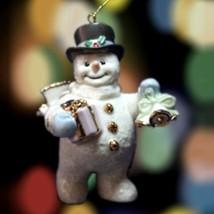 Jolly Snowman Ornament Figurine - Lenox Fine China -Joyful Tidings- NEW - $38.85