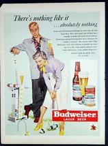 1950 Budweiser Croquet Vintage Magazine Print Ad - $8.90