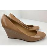 J Crew Wedge High Heels Tan Shoes Women's Size 9.5 - $19.79