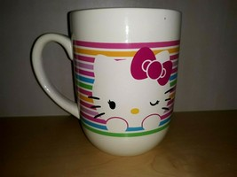 Sanrio Winking Hello Kitty Large 2013 Ceramic Coffee Mug Tea Cup Anime C... - $16.44