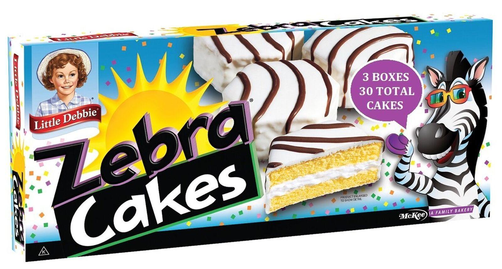 Little Debbie Zebra Cakes 10 Per Box, (3 Pack) - $29.69