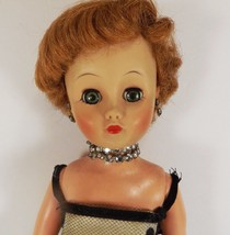 """VINTAGE 1950'S 14"""" GLAMOUR  DOLL COMPLETE-SHOES RHINESTONE JEWELRY NET D... - $31.96"""