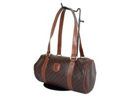 0f7936c186f5 Authentic CELINE MACADAM PVC Canvas Leather Browns Shoulder Bag CH17383L -   119.00