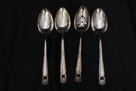 "Rogers Eternally Yours Silverplate Serving Spoons 8.5"" Set of 4 - $42.63"
