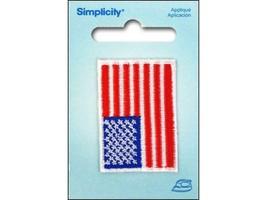 Sm Usa Flag SPL1961650001 Simplicity Trim Applique Iron On - $9.00