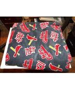"1 Yd Novelty Sports Teams Quilting Fleece 54"" Wide STL Cardinals Blue Logos - $8.79"