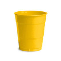 12 oz Solid Plastic Cups School Bus Yellow/Case of 240 - $55.88