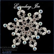 Signed Eisenberg Ice Rhinestone Snowflake Pin (#J1273) - $48.00