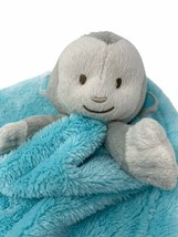 "Blankets and Beyond Grey Monkey Plush Blue Lovey Security Nunu 15"" Long - $9.99"