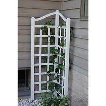"Corner Trellis For Climbing Plants Vine 66"" H Patio Garden Vinyl White U... - $76.80"