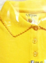 School Uniform Girls S/S Polo Gold French Toast Picot Collar Shirt 5 New - $12.58
