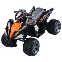 Orange Black Kids Ride On Quad 4 Wheel Electric... - $310.75