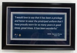 Mariano Rivera New York Yankees Framed 18x12 Photo w/ Quote - $57.82