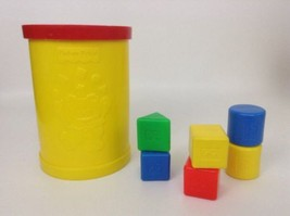 Vintage 1977 Fisher Price Baby's First Blocks Shape Sorting Container w/... - $18.76