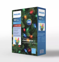 Philips 50ct Multicolored Christmas LED C3 String Lights  image 2