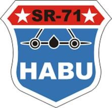 """Official USAF SR 71 HABU Decal 4"""" Wide x 3.88"""" High - $11.87"""