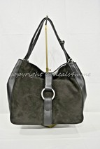 NWD Michael Kors Quincy Large Shoulder Tote in Suede and Leather in Black - $269.00