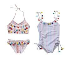 2Pcs Tassel set Toddler Kids Girls Strip Bikini Swimwear Swimsuit Bathin... - $9.79+