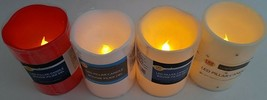 """Flickering LED Wax Pillar Candles 4""""H X 3""""D 120 Hours 1/Pk, Select: Color - $3.49"""