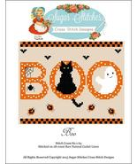 Boo halloween cross stitch chart Sugar Stitches... - $7.00