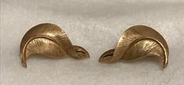 Crown Trifari Goldstone Earrings - $12.00