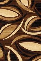 PREMIUM 3D Hand Carved Modern 3x5 4x6 Rug Contemporary 1070 Brown Beige Black - $75.00