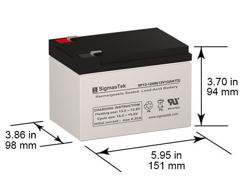 Origin Battery OR-12120F2 12V 12Ah Battery Replacement by SigmasTek