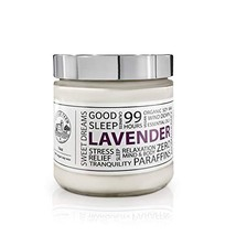 Lavender Scented Candle Made from Soy Wax Made with Natural Essential Oils - Aro