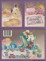 Celebrations Plastic Canvas Pattern Booklet ASN 3029 Cakes Rocking Horse... - $5.95