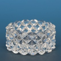 Vintage EAPG Pressed Glass Open Salt Diamond Point Sawtooth