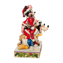 "6"" Stacked in a Holiday Pyramid -  Mickey & Pals Jim Shore Disney Traditions image 3"