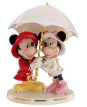 Lenox Disney Mickey & Minnie Mouse Singing in the Rain Figurine New - $89.90