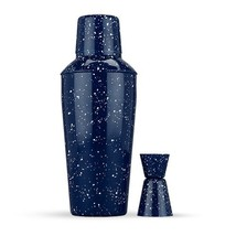 Stainless Steel Cocktail Shaker, Blue Cocktail Shaker Modern With Jigger - $56.99