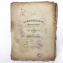 La Marseillaise Fantaisie Brillante Sheet Music Henri Rosellen Antique O... - $19.75