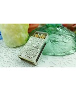 Kirk Repousse Flowers Sterling Silver Match Box Cover Great w/ Candle St... - $64.35