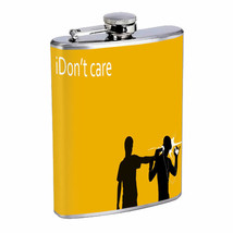 I Don't Care Em1 Flask 8oz Stainless Steel Hip Drinking Whiskey - $13.81