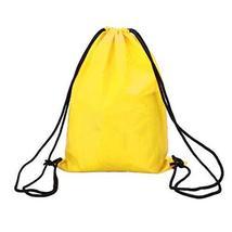 PANDA SUPERSTORE Sports Drawstring Backpacks [Yellow] Set of 2 Waterproof Backpa