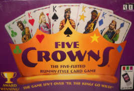 Everest 2013 Five Crowns A Five Suited Rummy-Style Card Game Unused Seal... - $7.99