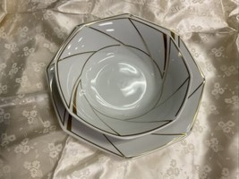 "11"" & 9"" Ranmaru White With Gold platter Serving Bowl - $23.22"