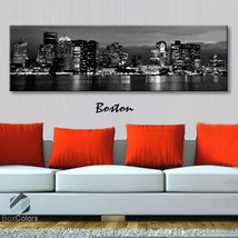 Single panel Art Canvas Print City Skyline Bost... - $54.99 - $94.99