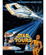 "Star Wars Disneyland / Tomorrowland ""STAR TOURS"" Ad Stand-Up Display - S... - $15.99"